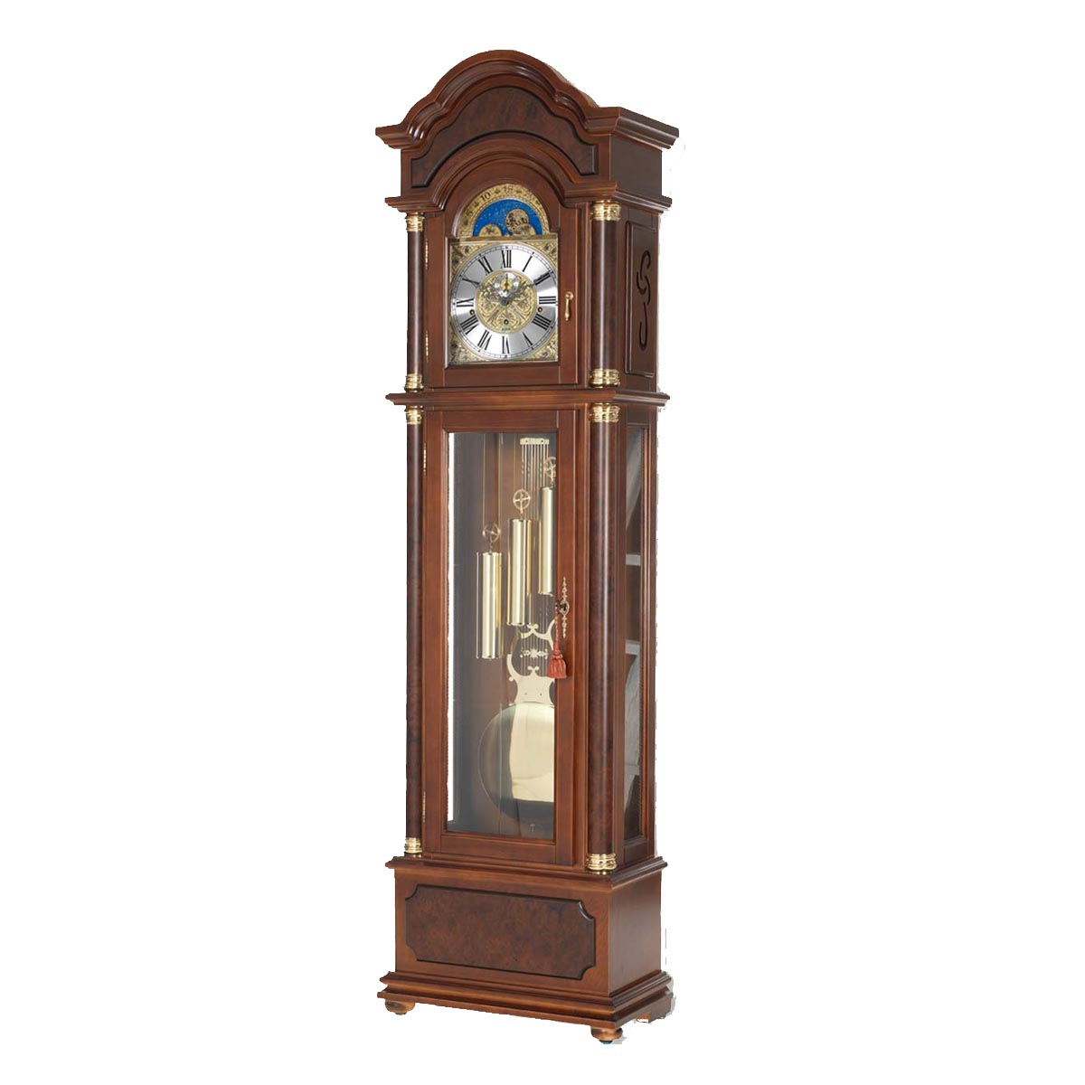BURLINGTON-Walnut Grandfather Floor Clock