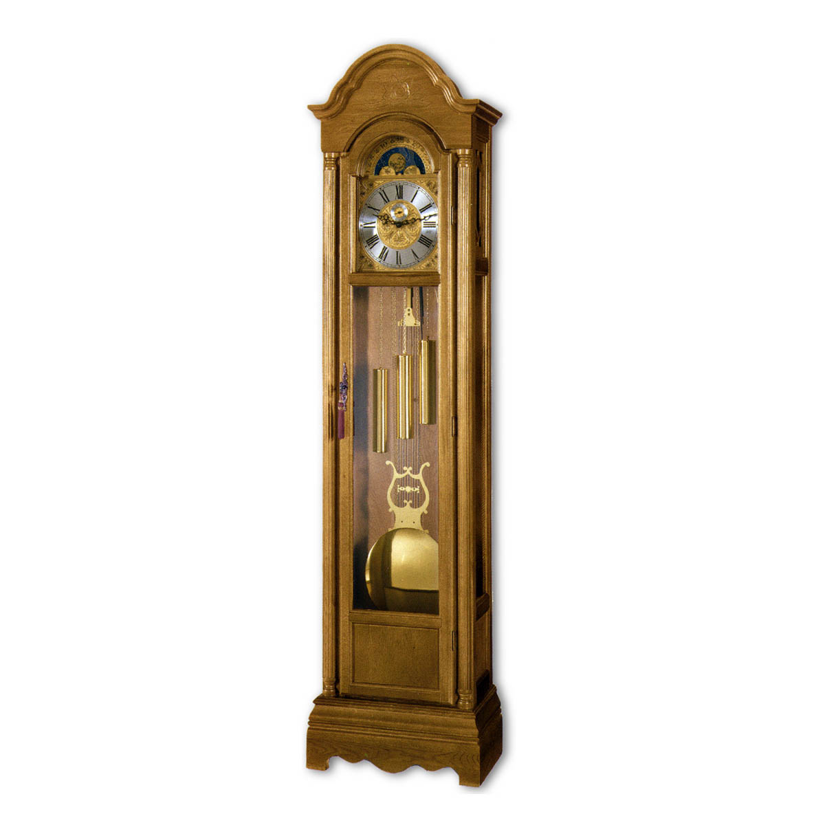 CAVENDISH-Oak Grandfather Floor Clock
