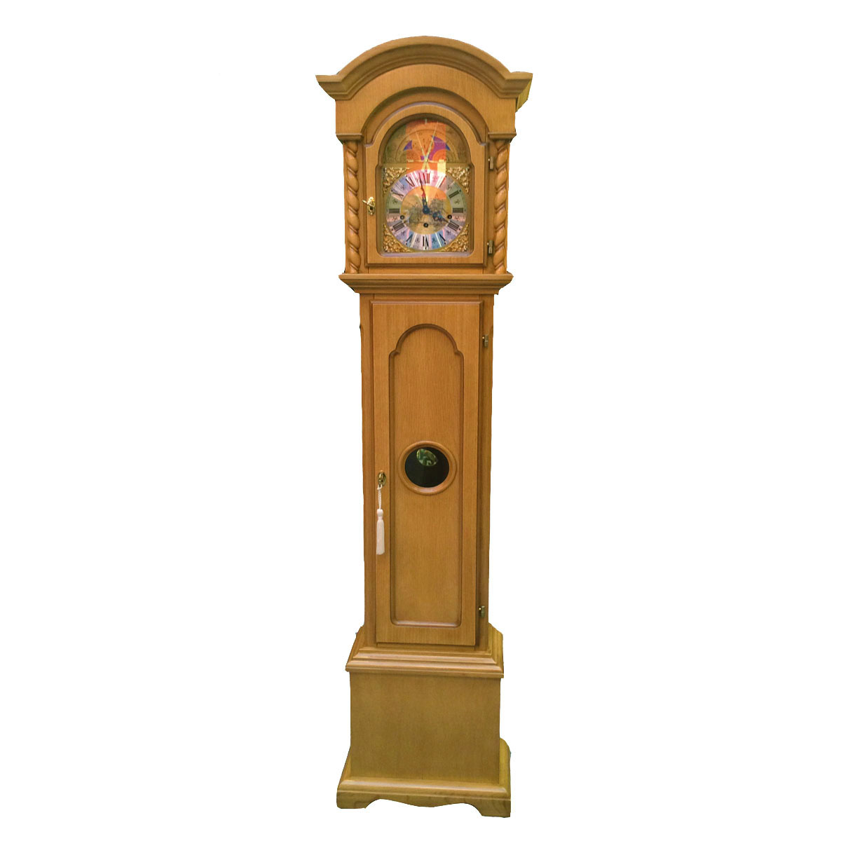 CORINTHIAN-Natural Grandmother Floor Clock