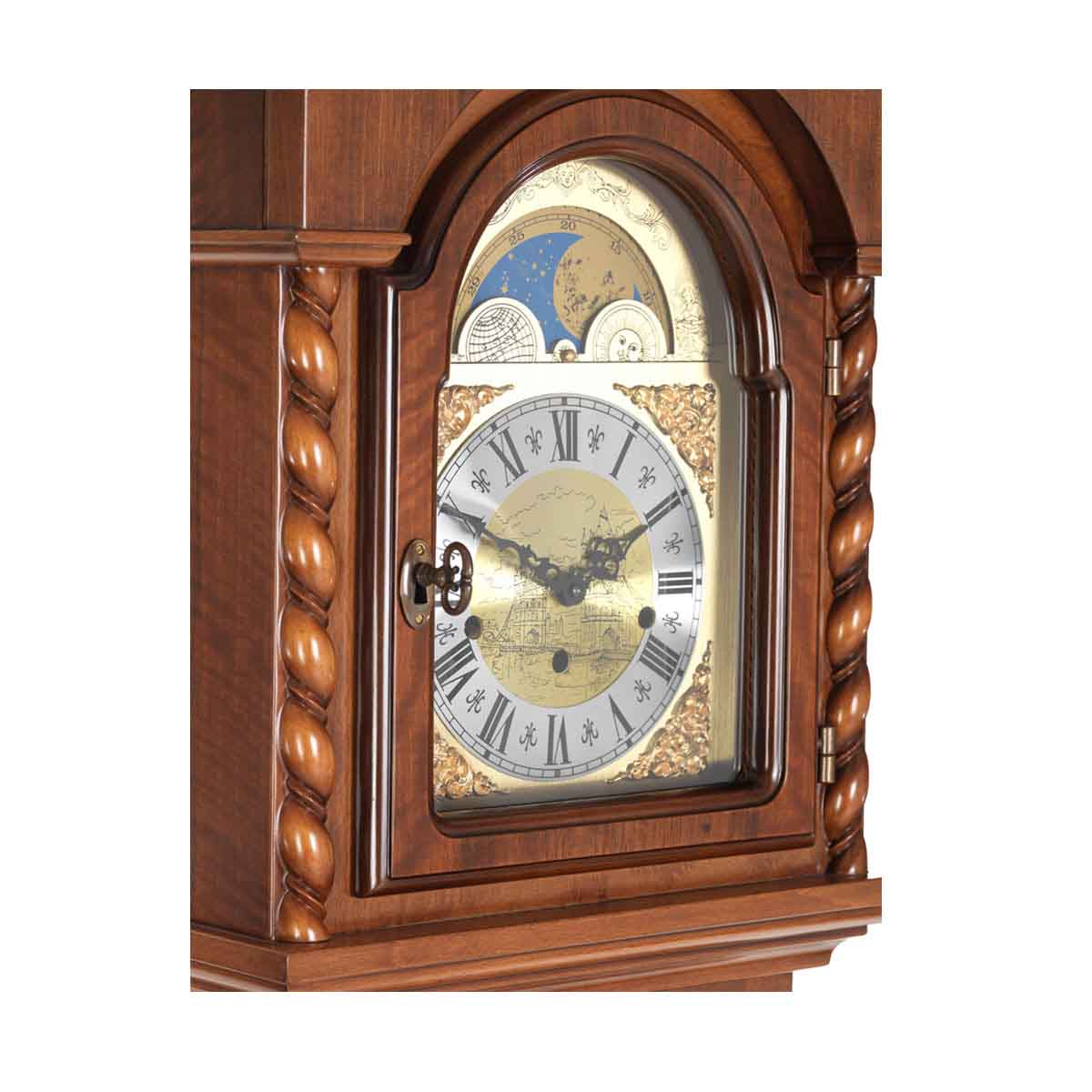 Billib Corinthian Walnut Grandmother Floor Clock