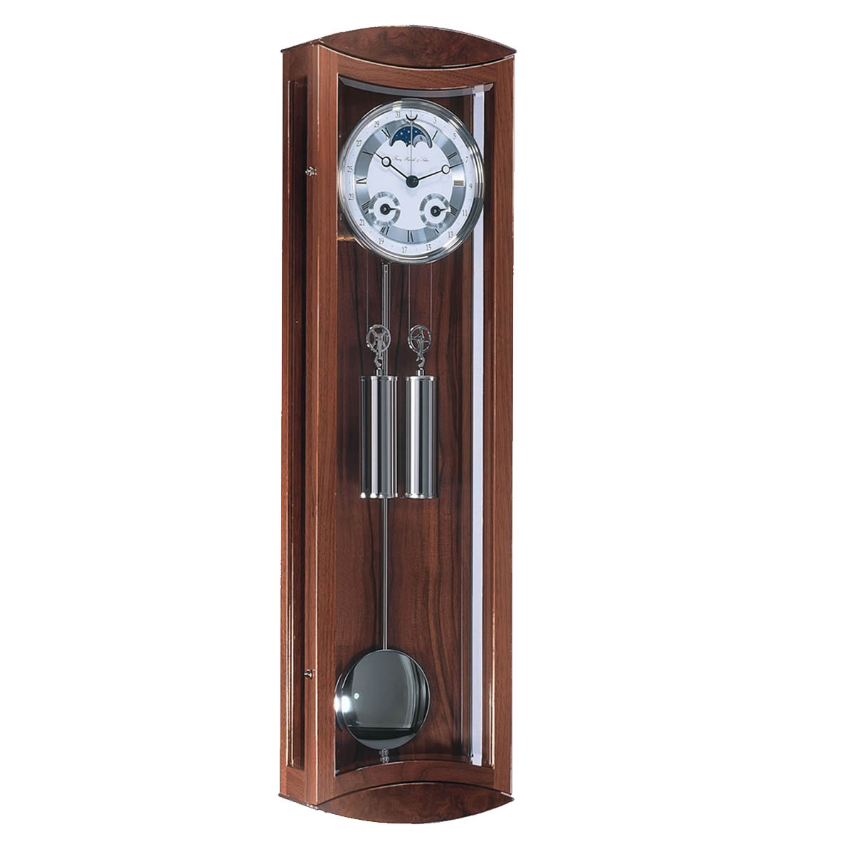 Hermle MORNINGTON-70650-030058- Walnut Regulator Wall Clock