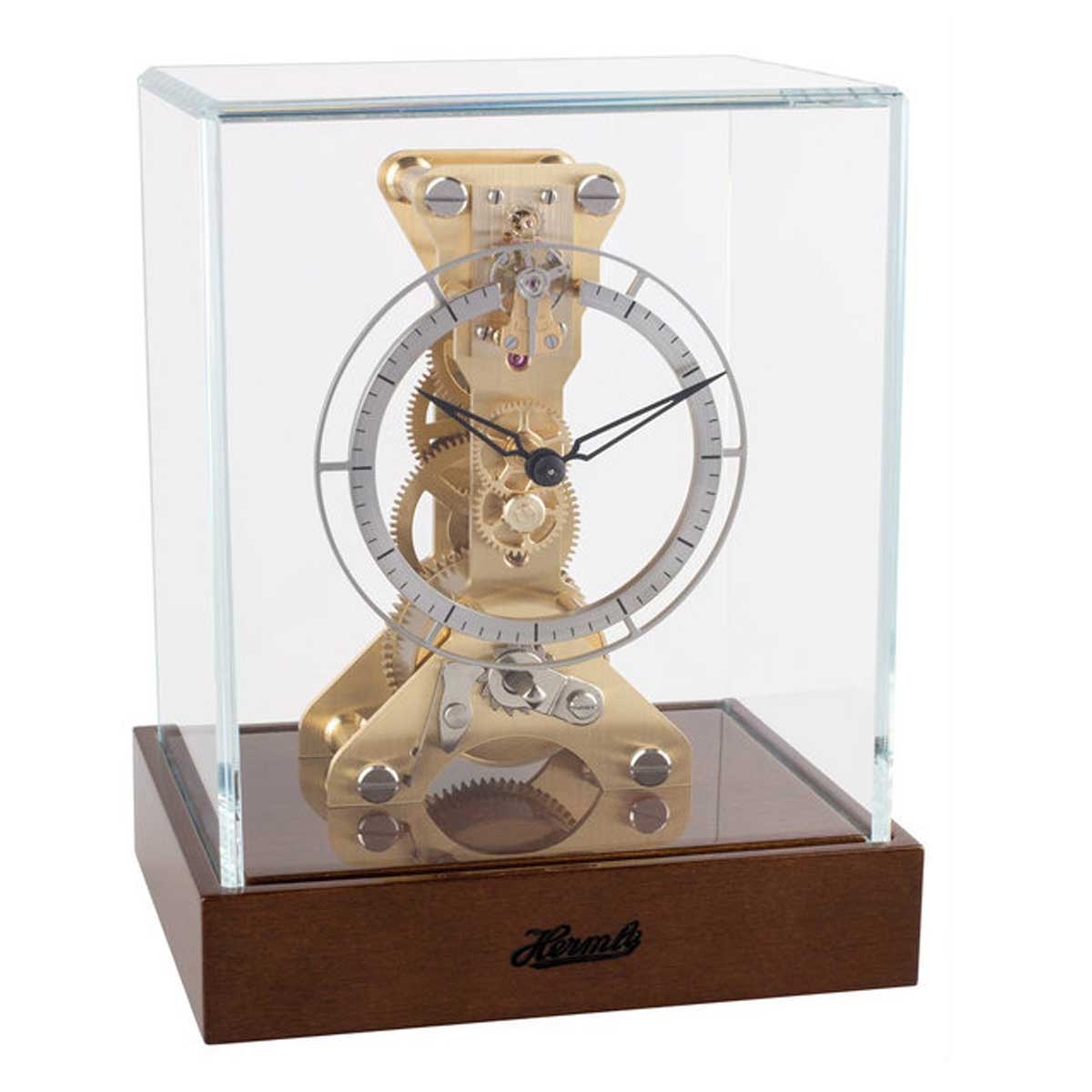ALFORD 23047-020762   Skeleton Mantel Clock Walnut