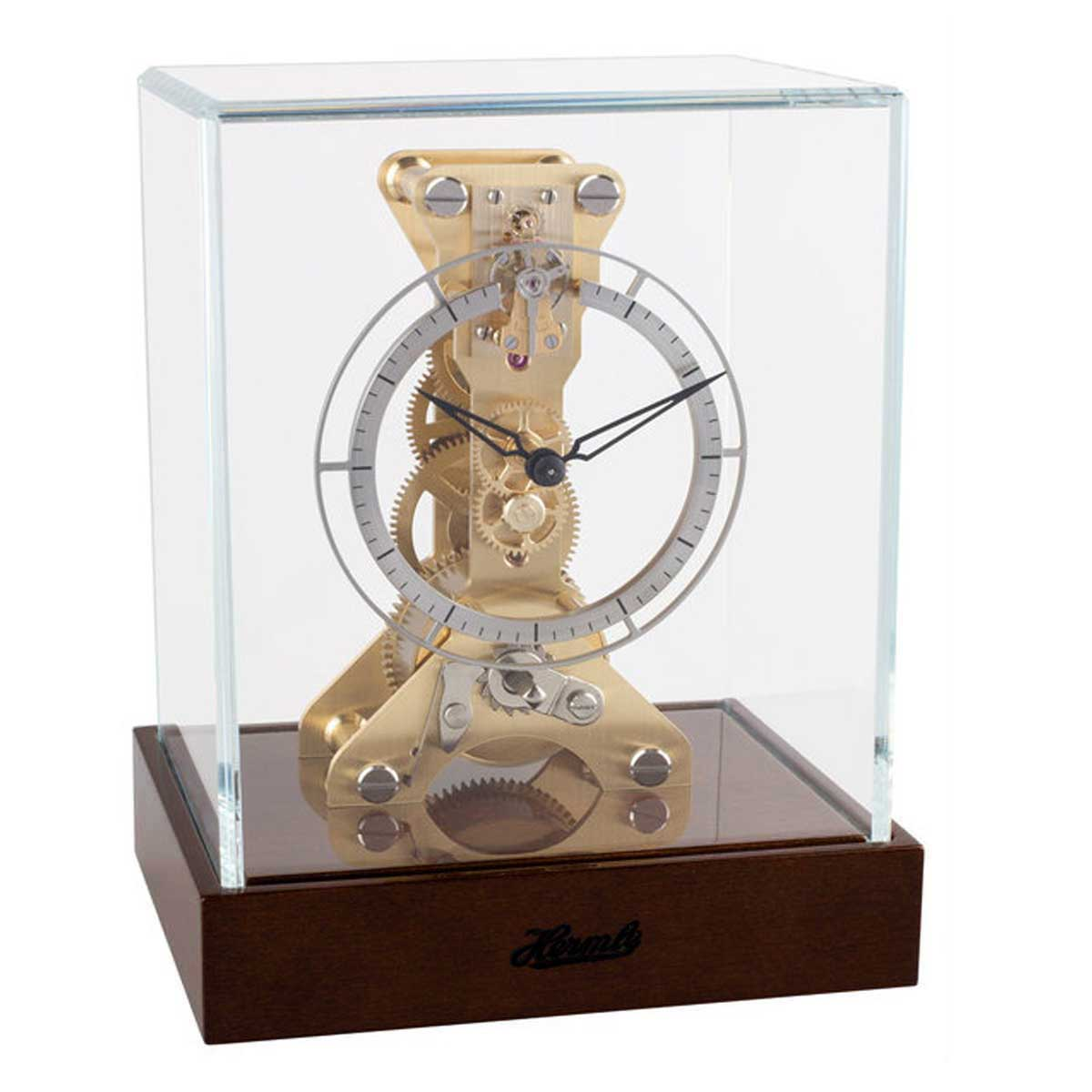ALTON  23051-087762 Skeleton Mantel Clock Dark Walnut