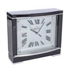 BECKETT Black Finish Mantel Table Clock