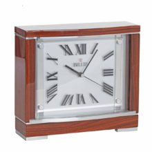 BECKETT Walnut Finish Mantel Table Clock