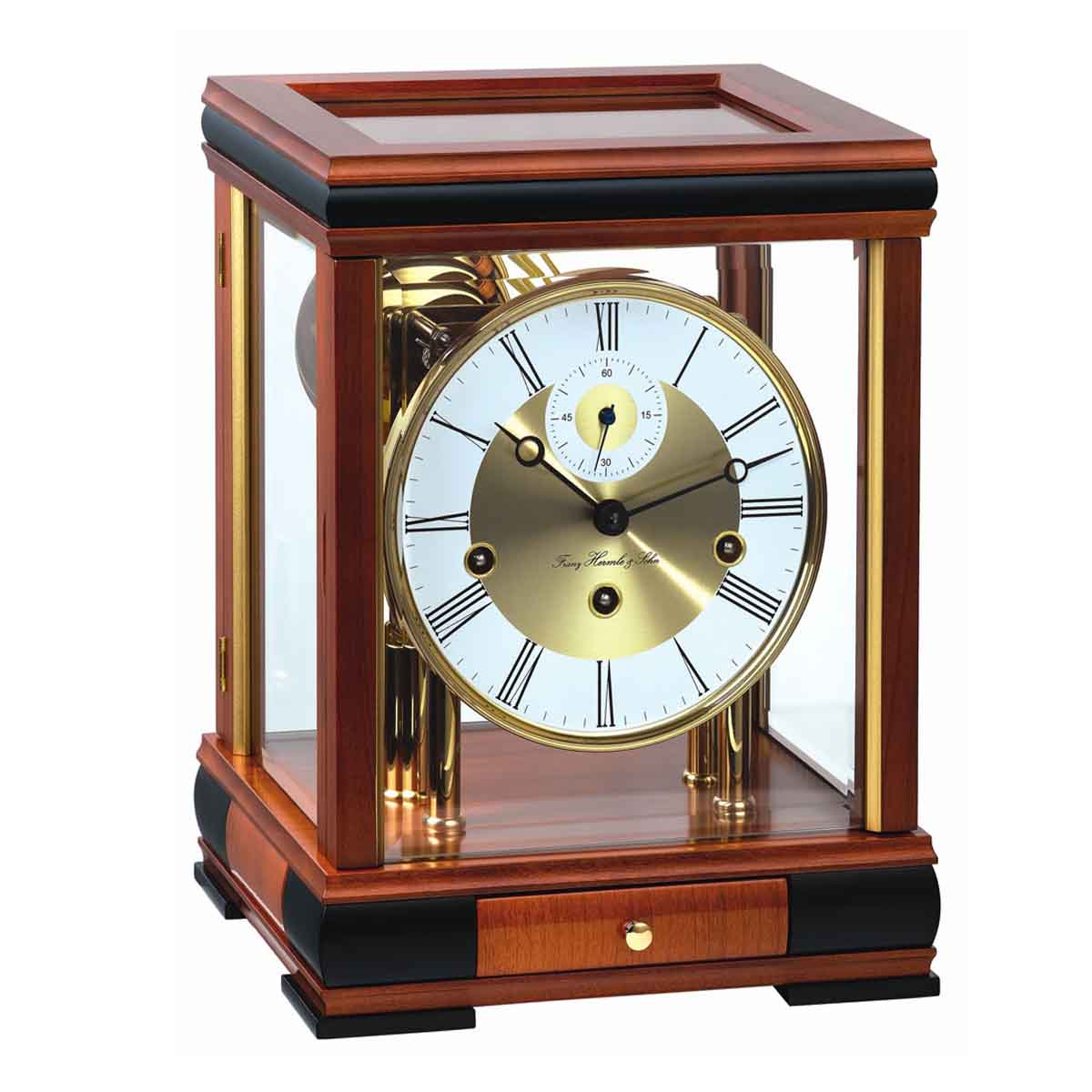BERGAMO C 22998 160352  Cherry Mantel Table Clock