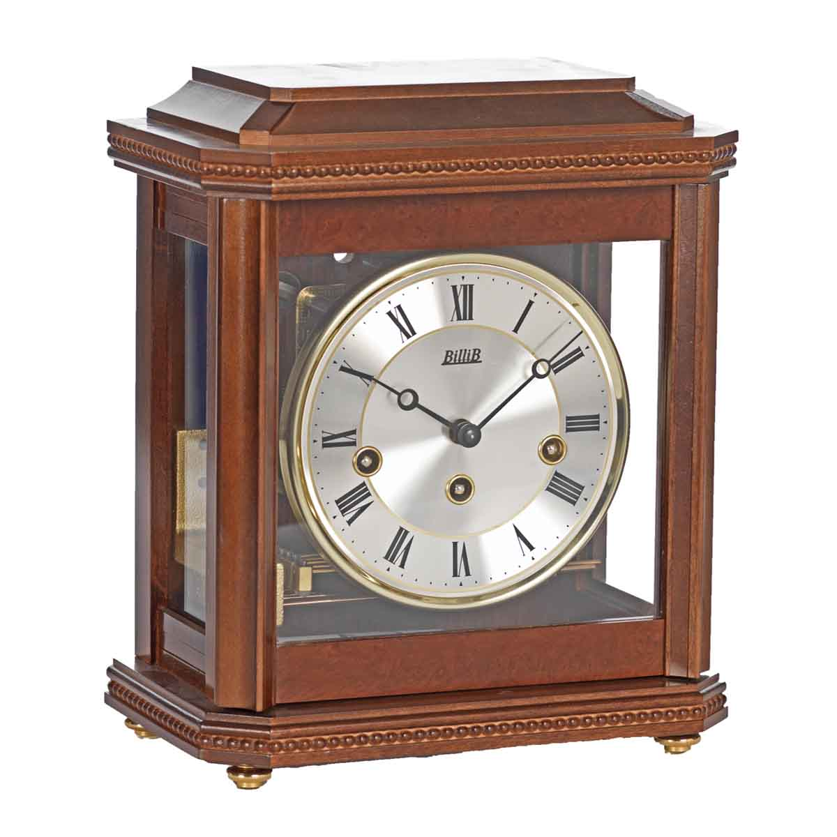 BIRCHGROVE Walnut Finish. Mantel Table Clock