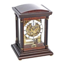 BRADLEY Walnut Finish Mantel Table Clock