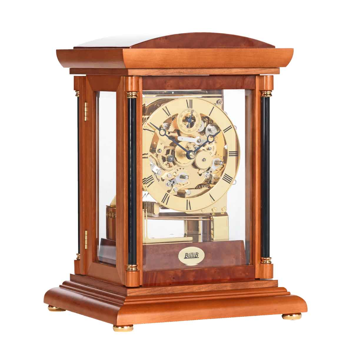 BRADLEY Yew Finish Mantel Table Clock