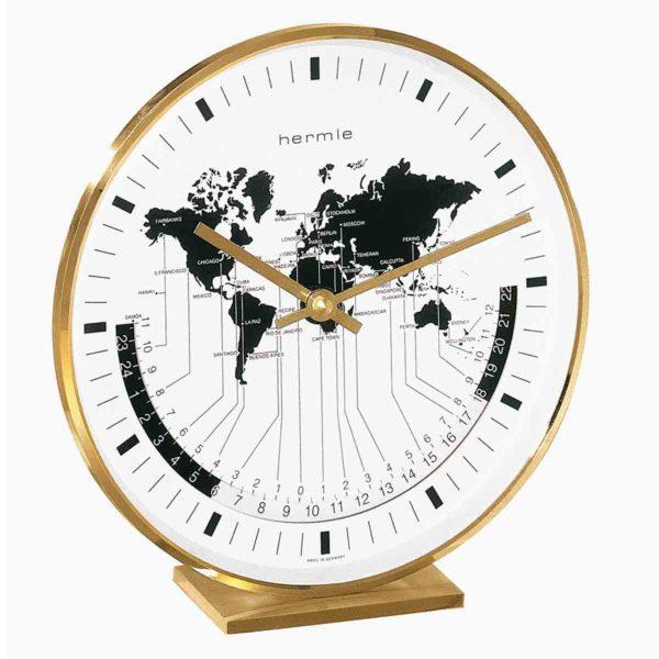 BUFFALO 22704 002100  Brass Mantel Table Clock