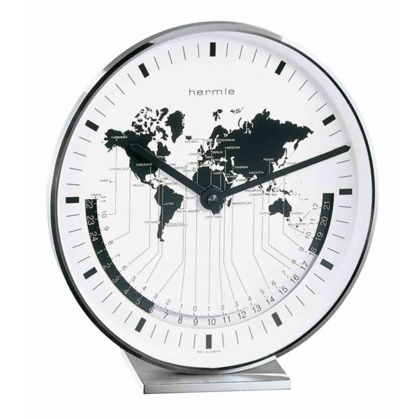 BUFFALO 22843-002100  Nickel-plated Mantel Table Clock