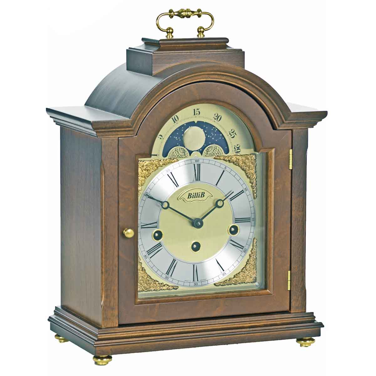LINTON WalnutFinish Mantel Table Clock
