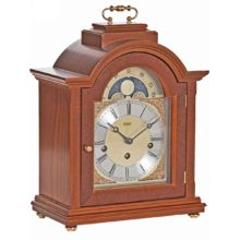 LINTON Yew Finish Mantel Table Clock