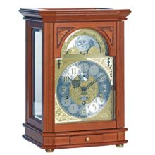 PRESIDENT Yew Finish Mantel Table Clock