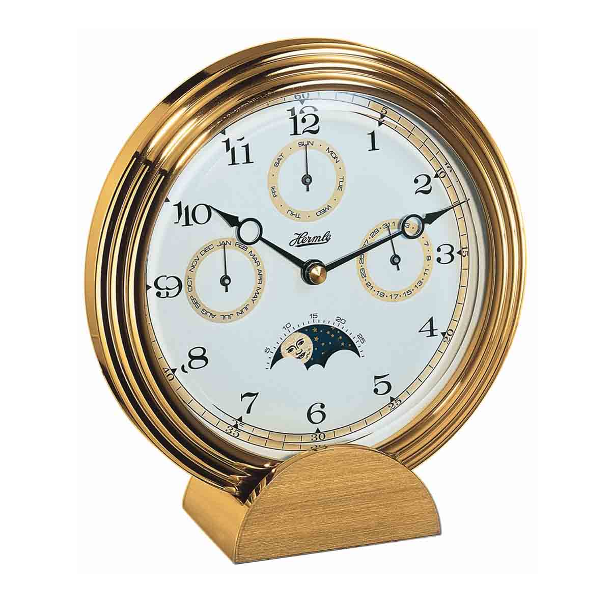 STOCKTON 22641 002100 Brass Mantel Table Clock