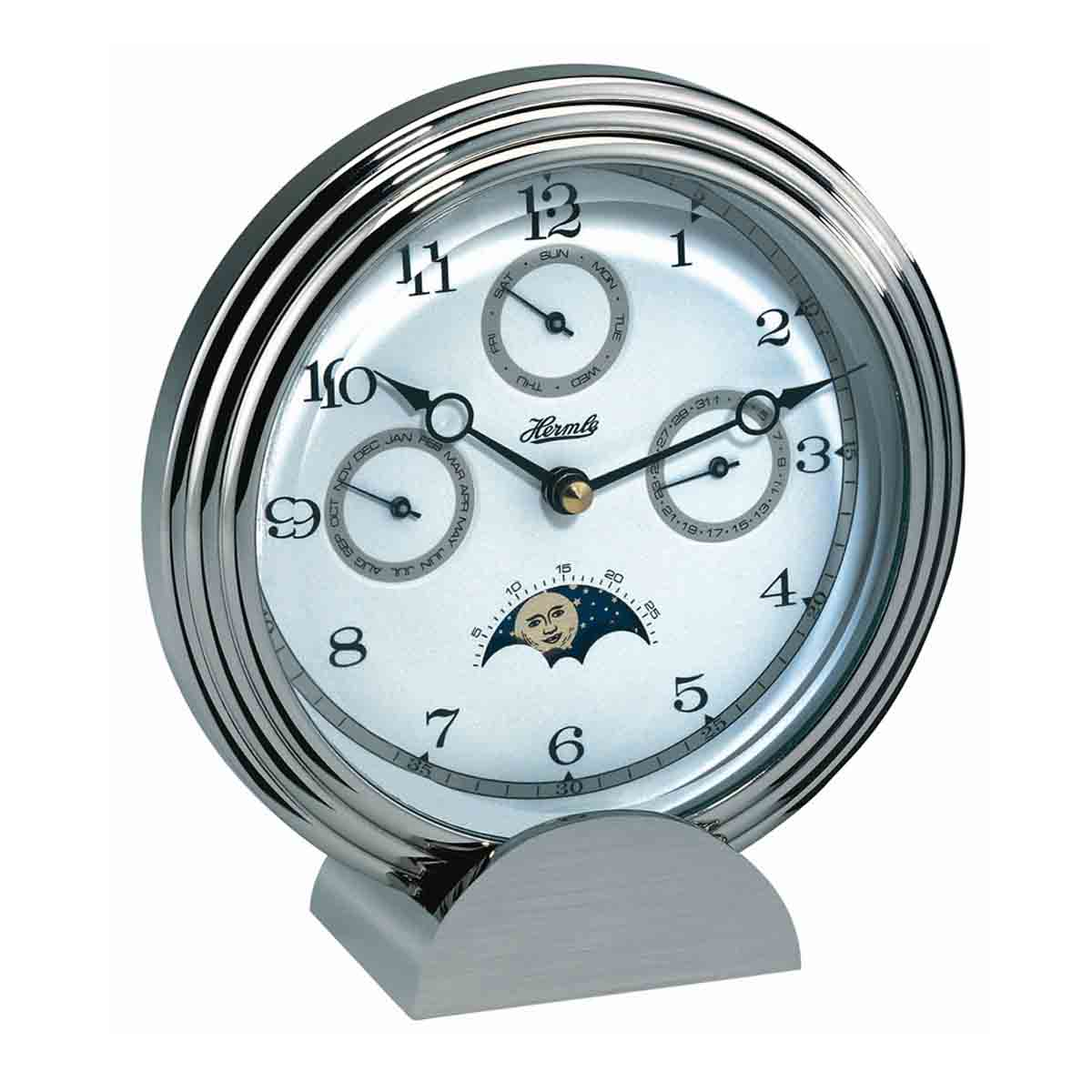 STOCKTON 22961 002100 Chrome Mantel Table Clock