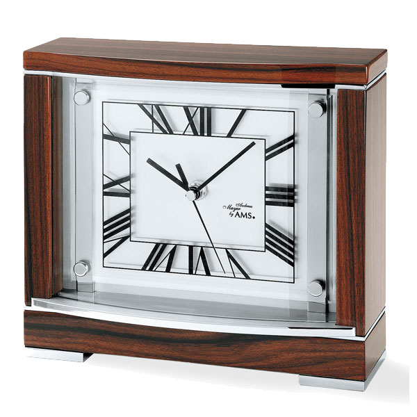 AMS 5110 walnut mantel table clock