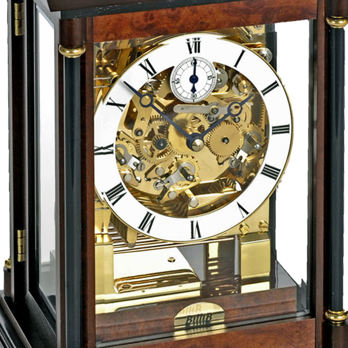 bradley-triple-chime-mechanical-mantel-clock-walnut-dial
