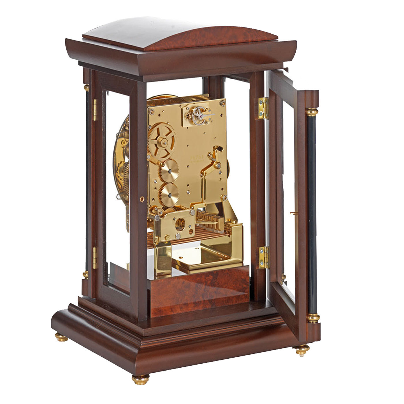 bradley-triple-chime-mechanical-mantel-clock-walnut-rear