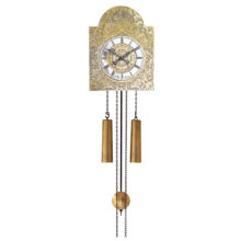 WU1131 Traditional Wall Clock Brass
