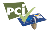 PCI complient, secure payment data.