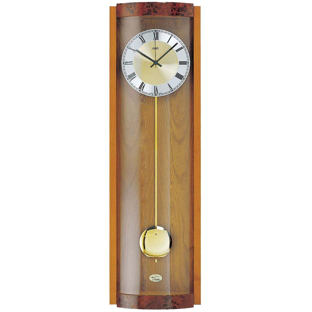 AMS 5087-9 Quartz Pendulum Wall Clock