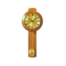 AMS 5132-9 Radio Controlled Pendulum Wall Clock