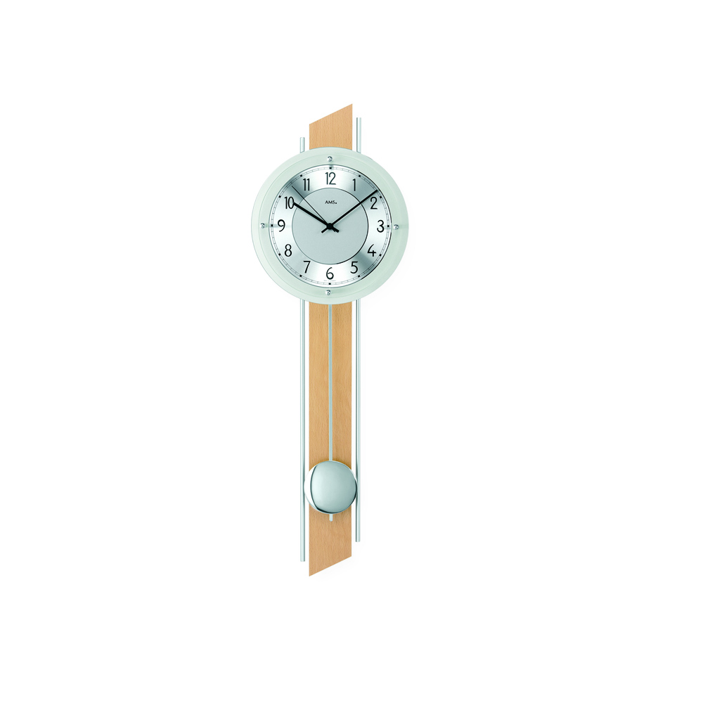 AMS 5234-18 Radio Controlled Pendulum Wall Clock