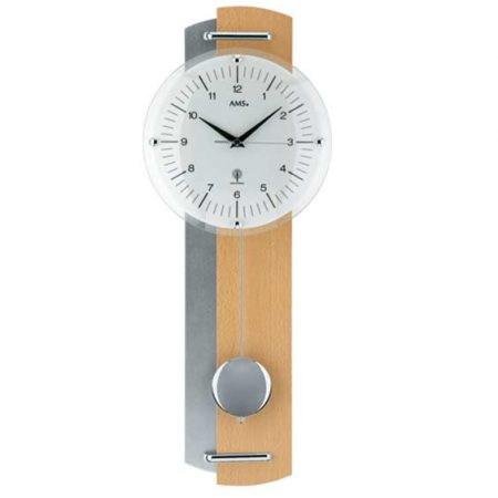 AMS 5244-18 Radio Controlled Pendulum Wall Clock