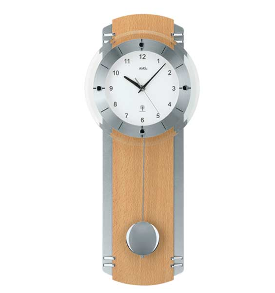 AMS 5245-18 Radio Controlled Pendulum Wall Clock