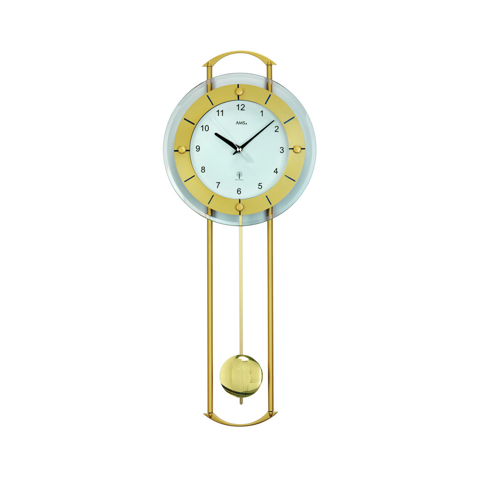 AMS 5255 Radio Controlled Pendulum Wall Clock
