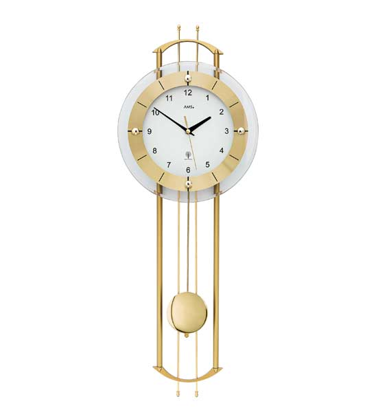AMS 5257 Radio Controlled Pendulum Wall Clock