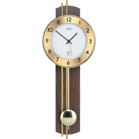 AMS 5266-1 Radio Controlled Pendulum Wall Clock