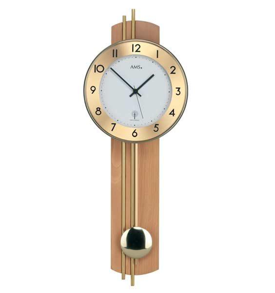 ams radio controlled pendulum wall clock