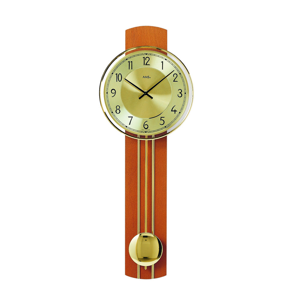 AMS 7115-9 Quartz Pendulum Wall Clock