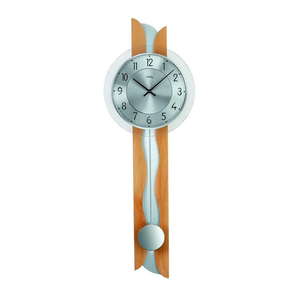 AMS 7216-18 Quartz Pendulum Wall Clock