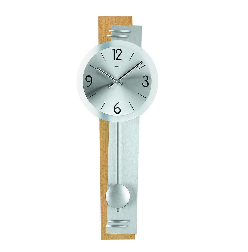 AMS 7255-18 Quartz Pendulum Wall Clock