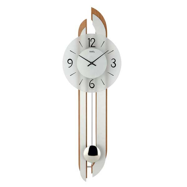 AMS 7330-18 Quartz Pendulum Wall Clock