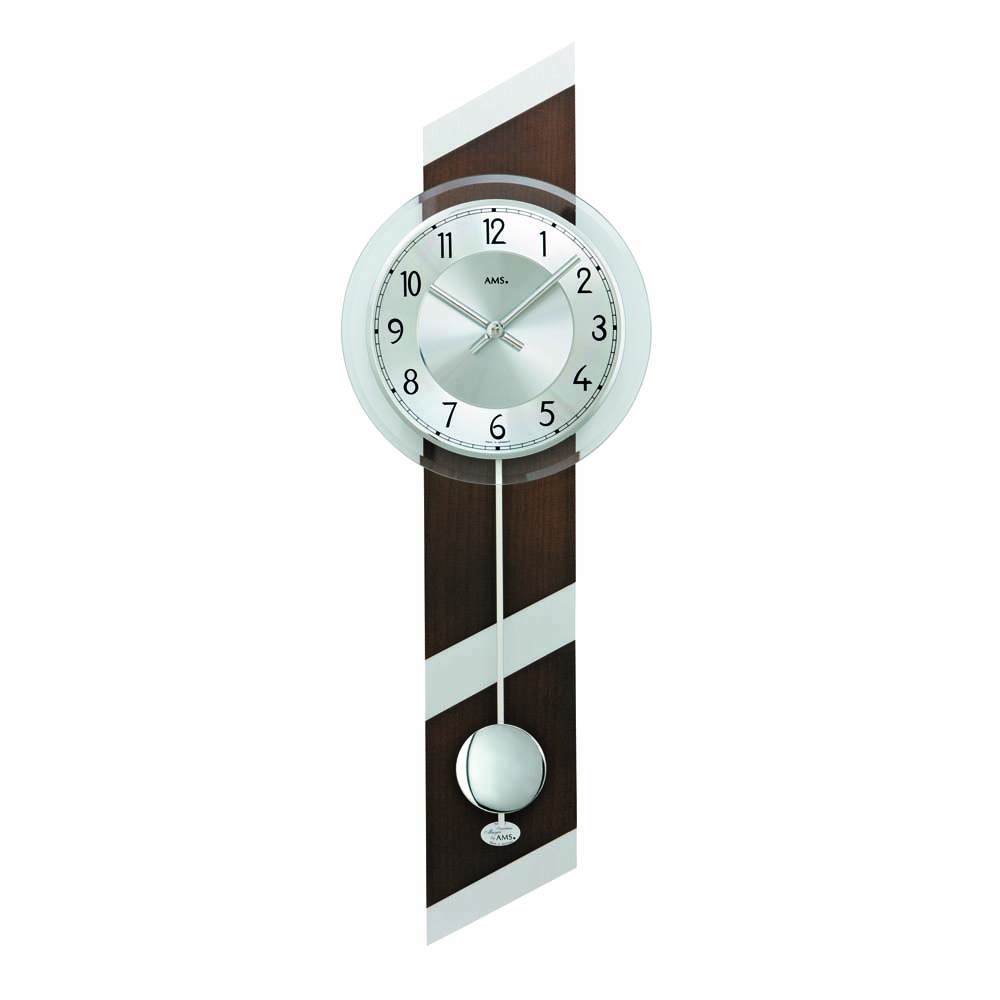 AMS 7415-1 Quartz Pendulum Wall Clock