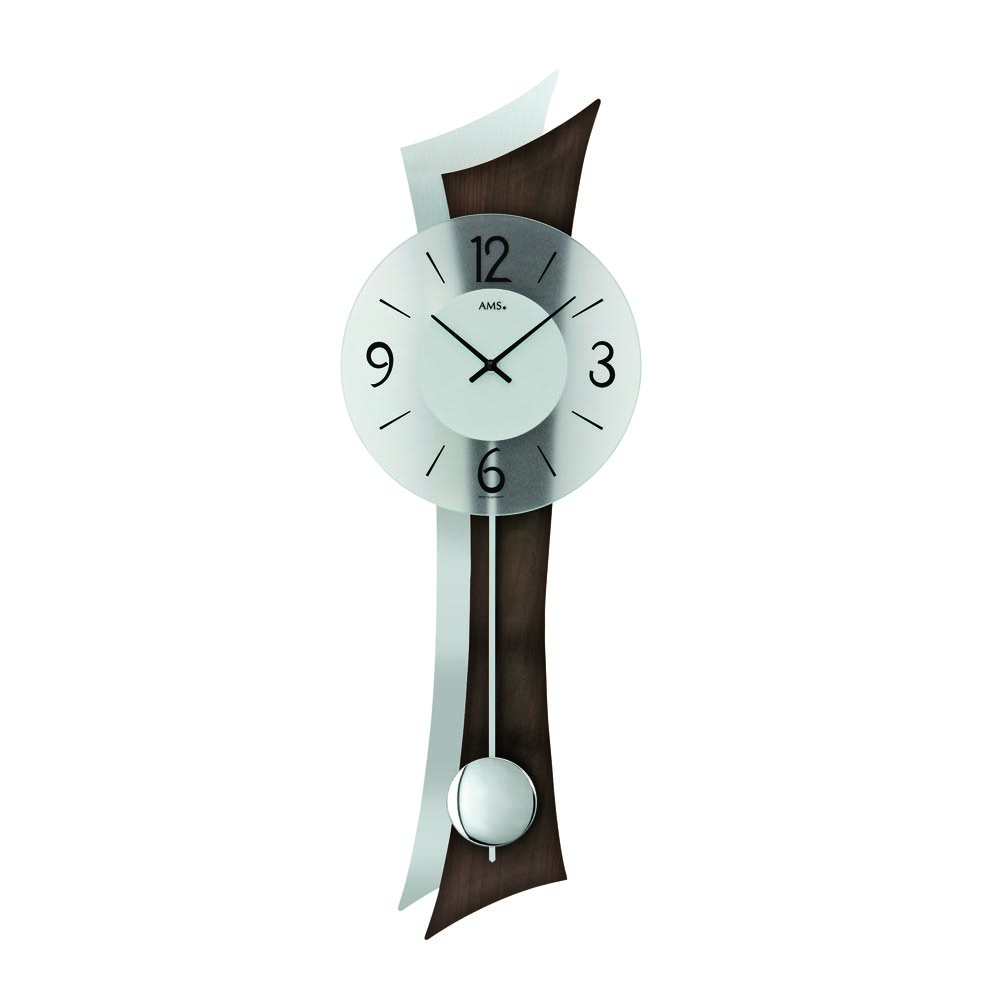 AMS 7425-1 Quartz Pendulum Wall Clock