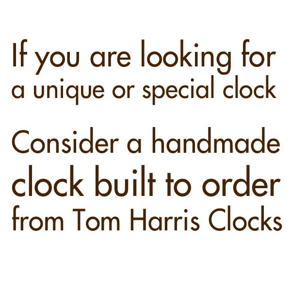 Consider a handmade clock