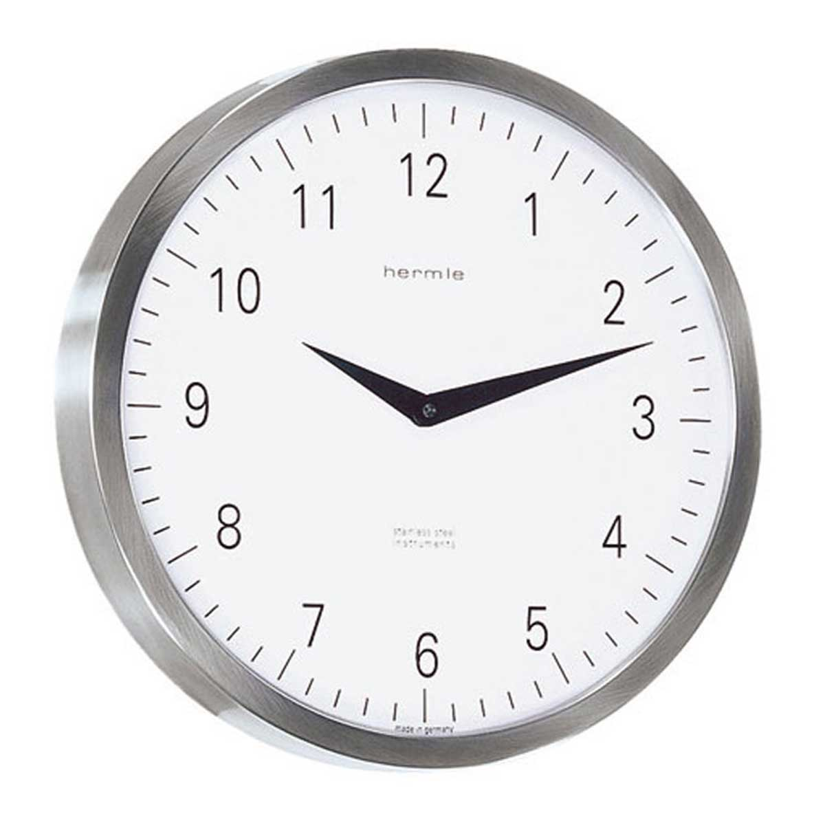 Hermle 30466-000870 Stainless Steel wall clock