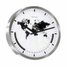 Hermle 30504-002100 Stainless Steel wall clock