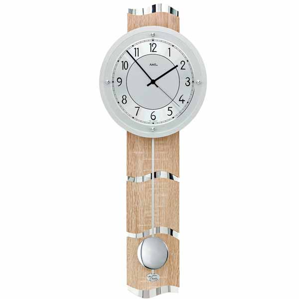 AMS 5214 Radio Controlled Pendulum Wall Clock