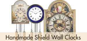 Handmade Shield Wall Clocks