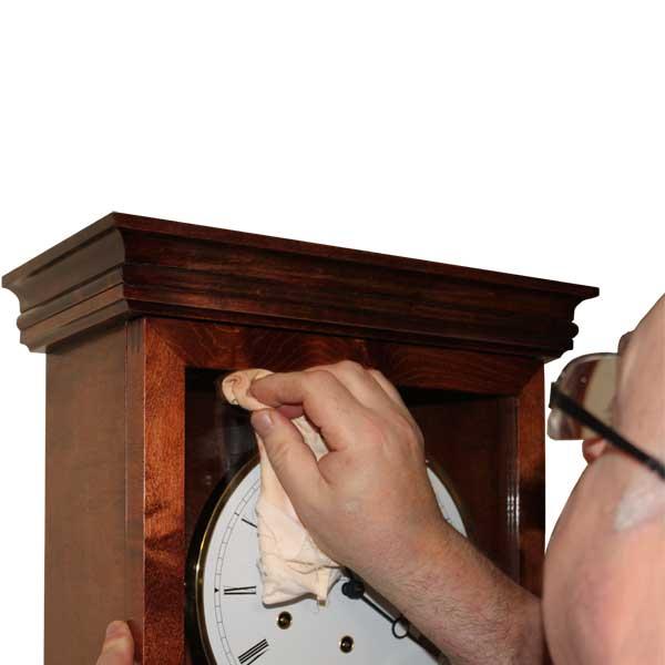 Coliton Grandfather Floor Clock polishing