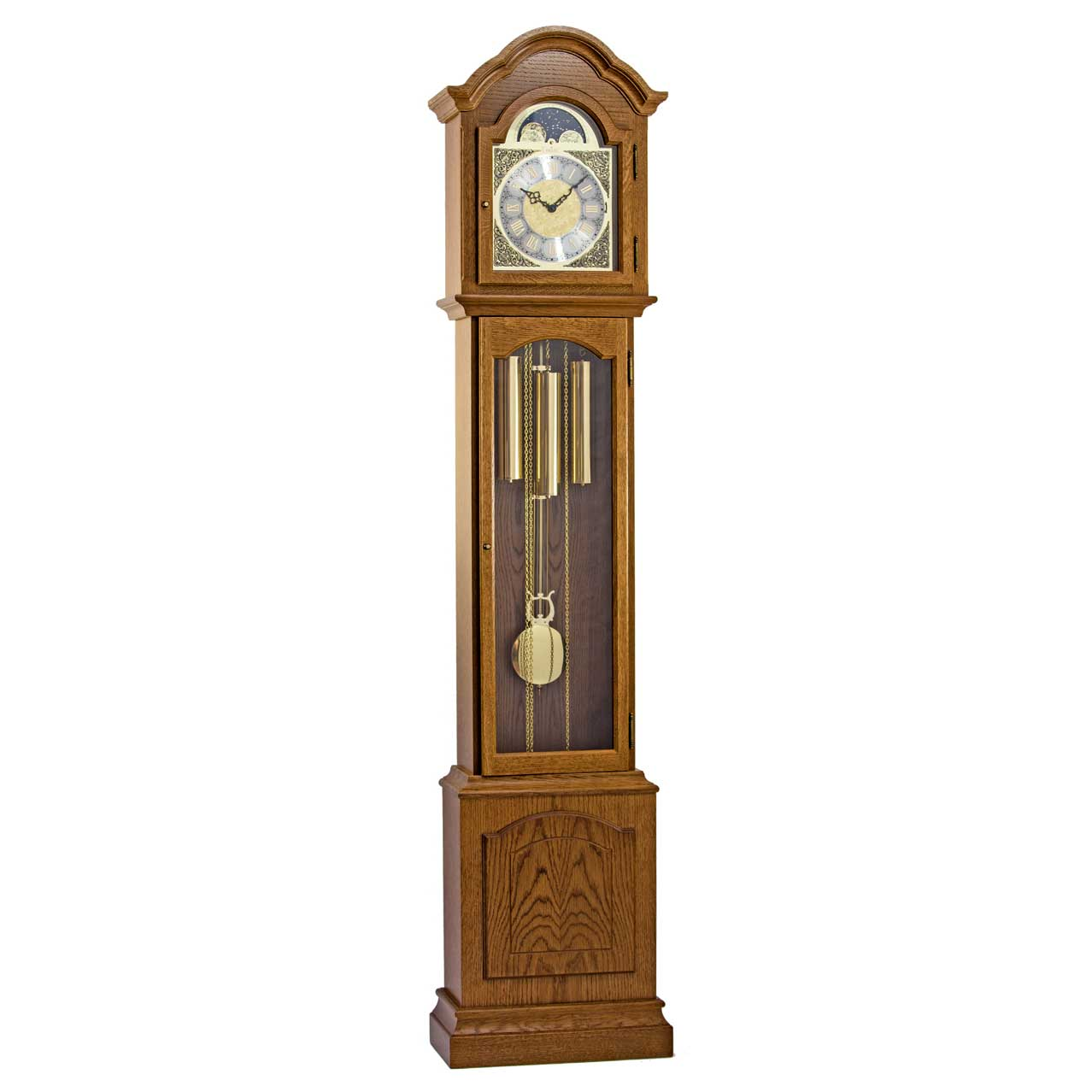 Glenhaven-Oak-Grandfather-Floor-Clock