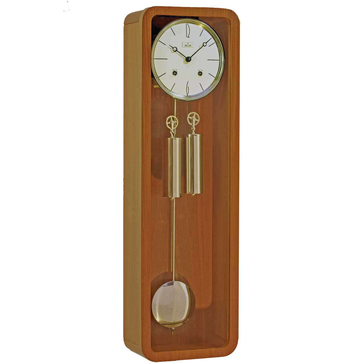 vintage regulator wall clock in teak