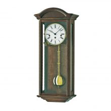 axford wall clock walnut finish